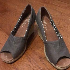 Grey Toms wedges
